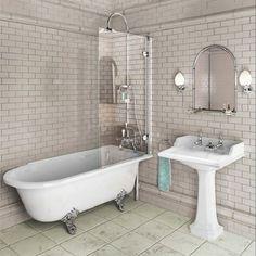 Burlington Hampton 1500 Freestanding Shower Bath - Left Hand E20 [E20] - £442.00 : Bradford Bathroom Co LTD, Bathroom fixtures and fittings