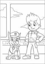 paw patrol chase and ryder coloring pages printable and coloring book to print for free. Find more coloring pages online for kids and adults of paw patrol chase and ryder coloring pages to print. Preschool Coloring Pages, Cartoon Coloring Pages, Coloring For Kids, Printable Coloring Pages, Coloring Pages For Kids, Coloring Books, Rubble Paw Patrol, Paw Patrol Party, Paw Patrol Birthday
