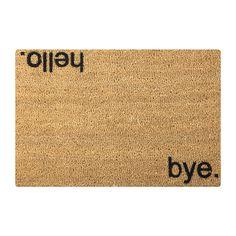 Discover the Artsy Doormats Hello/Bye Door Mat at Amara