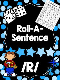 *****Please note that this product is also part of the following bundle: Roll-A-Sentence Bundle*****These printable worksheets are designed to let speech therapy students work on their /r/ sounds at the sentence level. All you need is a die. Let students roll the die four times and have them record their numbers.