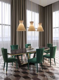 Every luxury dining room needs some eccentric and elegant furniture pieces. So, let us show you our selection of Modern Dining Tables to inspire you. Dining Table Design, Modern Dining Table, Modern Chairs, Dining Decor, Dining Tables, Dining Sets, Modern Armchair, Outdoor Dining, Dining Area