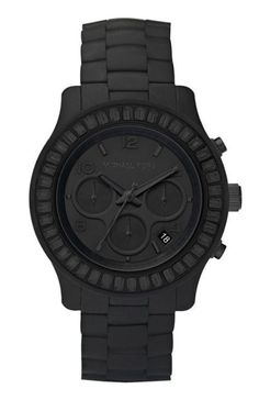 MK Matte Black Mens Watch!! Niiiiice!! =) Johnston http://johnstonmurphymensclothing.gr8.com More Mens Fashion Johnston & Murphy http://johnstonmurphy.gr8.com
