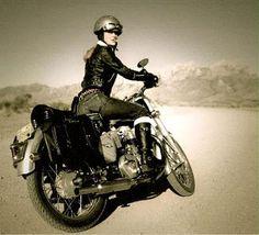 Effortless style: who can resist a girl on a bike? Yamaha Motocross, Motorcycle, Bike, Style, Bicycle, Swag, Motorcycles, Bicycles, Motorbikes