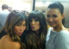 Jenna Ushkowitz, Lea Michele, and Naya Rivera at Comic-Con in San Diego on July 14, 2012