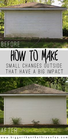 Do you have a spot in your yard that could use a bit of curb appeal? Does your shed landscaping look sad like mine? There's hope! Small Changes that Go a long way outside - come over and see what I did!