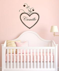 Take a look at this Heart Personalized Wall Decal by DecorDesigns on #zulily today!