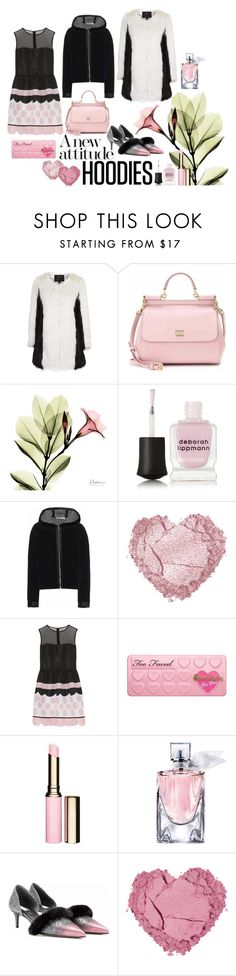 """""""2016 hoodies with a new attitude"""" by vaughnroyal ❤ liked on Polyvore featuring Topshop, Dolce&Gabbana, Deborah Lippmann, T By Alexander Wang, RED Valentino, Too Faced Cosmetics, Clarins, Lancôme, Balenciaga and women's clothing"""