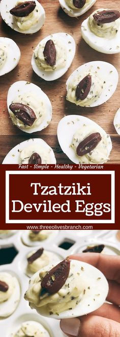 Ready in 10 minutes, these eggs are a perfect appetizer or snack for holidays like Easter and gather Tzatziki Sauce, Holiday Appetizers, Appetizers For Party, Quick Appetizers, Quick Snacks, Appetizer Recipes, Apps, Snacks Für Party, Deviled Eggs