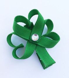 St Patrick or St Patty's Day Shamrock Ribbon by leilei1202 on Etsy, $3.50    ....or i'm sure I could make this!!! :)