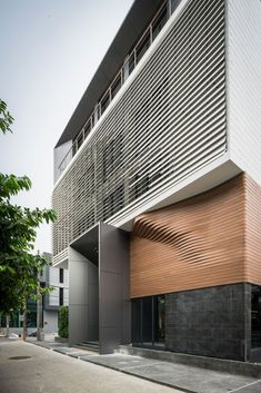Details of the modern building