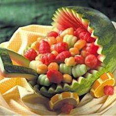 Fruit arrangement for baby shower