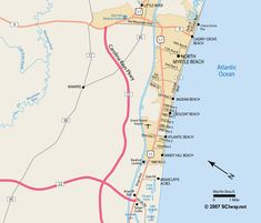 north myrtle beach map | North Myrtle Beach, South Carolina – Printable Area Map