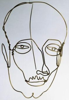 Like a continuous line drawing. Calder, Alexander - Portrait of a Man - Surrealism - Sculpture - Portrait - Museum of Modern Art - New York, NY, USA