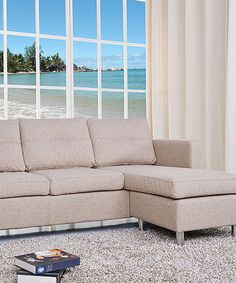Look what I found on #zulily! Camel Detroit Sectional Sofa & Ottoman #zulilyfinds