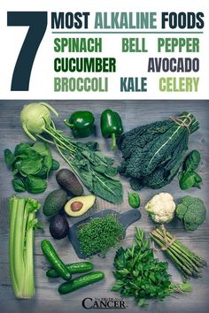 This is a SUPER important list. Make sure you pin to save for later. 7 Most alkaline foods: Spinach, avocado, cucumber, kale, broccoli, celery, & bell pepper. Follow the 20/80 rule to keep your blood pH levels balanced. 20% acidic and 80% alkaline. Click through as Ty Bollinger discusses it's critical role in the prevention of cancer! Please re-pin. Together we are saving lives everyday. Join our mission to eradicate cancer naturally!