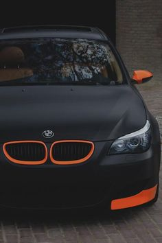 Matte black BMW instead of orange I would like to see red
