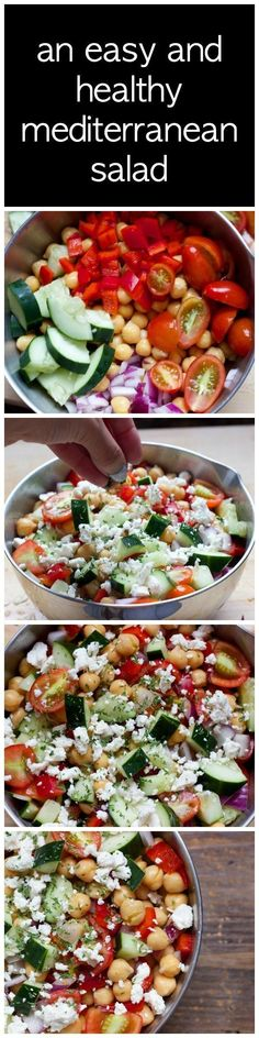 Get the recipe ♥ Easy and Healthy Mediterranean Salad @recipes_to_go #healthandfitness