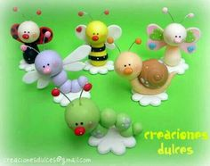 (cute little clay critters! Polymer Clay Animals, Fimo Clay, Polymer Clay Crafts, Polymer Clay Creations, Hobbies And Crafts, Diy And Crafts, Fondant Animals, Fairy Crafts, Cute Clay