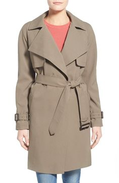 MICHAEL MICHAEL KORS Wrap Front Trench Coat. #michaelmichaelkors #cloth #