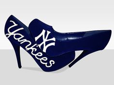 New York Yankees Closed Toe Sports Pumps by GetPumped on Etsy, $150.00. I'm in love!