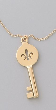 Kappa Kappa Gamma - Fleur de Lis and Key Necklace
