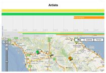 """""""Timeline map allows you to load one or more datasets onto both a map and a timeline simultaneously. Items in the visible range of the timeline are displayed on the Google map as markers. """""""