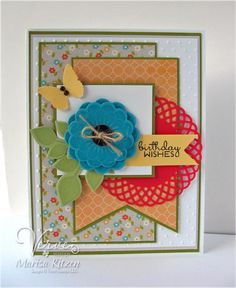 Birthday card by Marisa Ritzen using Verve Stamps #vervestamps