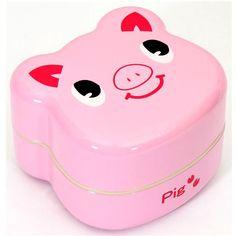 Pink Pig Bento Box