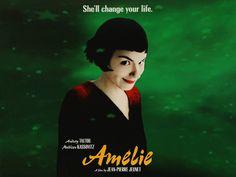 """3D movie poster: """"Amélie"""":   """"Amélie"""" (Le fabuleux destin d'Amélie Poulain) movie poster in fake 3D.  Made with Moho Pro 12."""