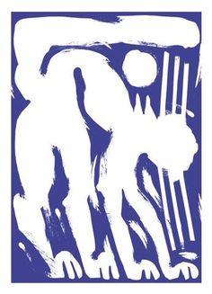 Refuge Print - Cat in Blue