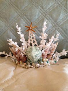 Handmade mermaid tiara for Lyrica of Eldevieve.