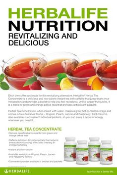 Herbal Tea Concentrate Nutrition Poster - Herbalife Nutrition