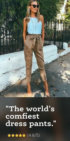 The world's comfiest dress pants - Fray - The world's comfiest dress pants – Fray Source by shopfray - Casual Day Outfits, Stylish Outfits, Spring Outfits, Cute Outfits, Fashion Outfits, Fashion Trends, Woman Outfits, Office Outfits, Kakis