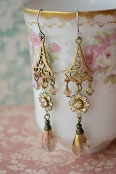 18K Gold Filled splendide Multi-Color Mystic Topaz longues pendants d/'oreilles pour femmes
