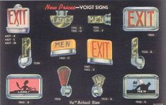 1930s Linen Postcard: New Prices - Voigt Signs