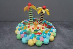 gâteau de bonbons île déserte