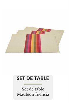 Set de table Mauleon fuchsia