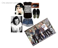"""""""Josephine one direction koncert"""" by stinekjaer on Polyvore featuring Vans and Creep Street"""