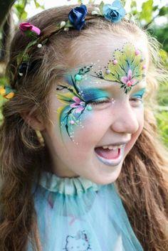 Girl mask face paint by Sophia Leadill
