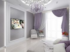 Accent Walls In Living Room, Interior Design Living Room, Living Room Designs, Purple Bedroom Decor, Master Bedroom Makeover, Elegant Home Decor, Luxury Interior Design, Beautiful Bedrooms, Design Case