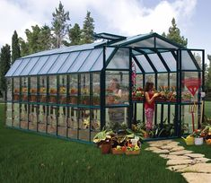 This Rion Grand Gardener 2 Clear Greenhouse features two kinds of virtually unbreakable polycarbonate coverings to give you the best of both worlds.