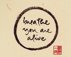 Breathe, you are alive. Thich Nhat Hanh