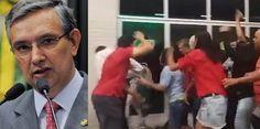 O senador de Sergipe, Eduardo Amorim (PSC-SE), foi recebido com ovadas no…