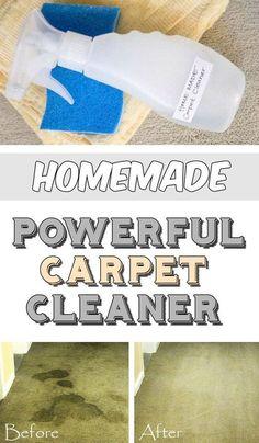 Homemade powerful carpet cleaner - myCleaningSolutions.com #greenpower