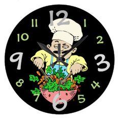 Cooking Cartoon Clocks & Cooking Cartoon Wall Clock Designs | Zazzle