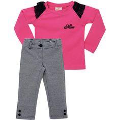 Conjunto Xadrez Infantil Feminino Pink - Nini & Bambini :: 764 Kids | Roupa bebê e infantil