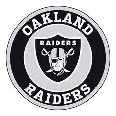 Roundel Mat - Oakland Raiders