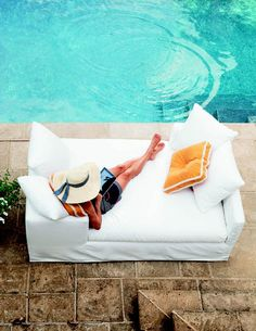 Marcus Design: {happy friday + hello summer ...}  Love this lounge chair by the pool!