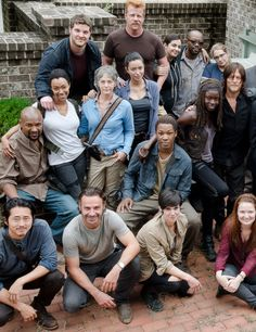 The Walking Dead Cast behind the scenes of 6x12 'Not Tomorrow Yet'