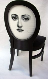 fornasetti chair.Re-Pinned by: https://www.facebook.com/DhomeBAZAAR
